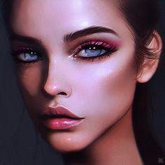 by Julia Razumova Digital Art Girl, Digital Portrait, Beauty Portrait, Portrait Art, Foto 3d, Portraits, Anime Art Girl, Fantastic Art, Pretty Art