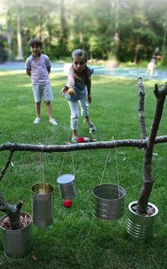 34 Fun DIY Backyard Games and Activities for Kids. Fun for July or outdoor games any time. Diy Projects For Kids, Diy For Kids, Craft Projects, Cool Diy, Easy Diy, Summer Activities, Camping Party Activities, Youth Activities, Camping Theme