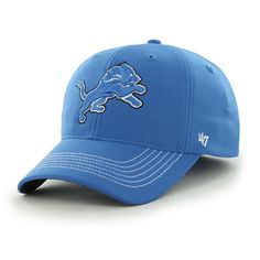 finest selection f09c1 7450a Detroit Lions Game Time Closer Blue Raz 47 Brand Stretch Fit Hat