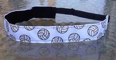 Glitter Volleyball white non slip headband by ThatOneCupcake, $6.00 volleyball gift