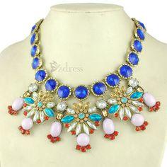 Luxuriant Alloy Gem Embellished Necklace For Women