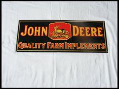 John Deere Porcelain Sign 17x14 for sale by Mecum Auction
