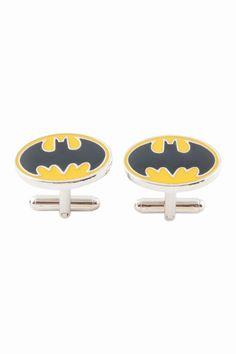 Yellow and Black Men Gift Wedding Batman Cufflinks