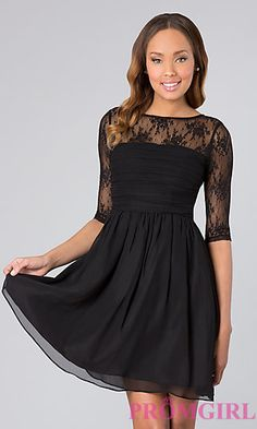 Short Dress with Sleeves at PromGirl.com