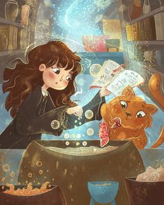 Harry Potter Ginny Weasley, Harry Potter Bellatrix Lestrange, Harry Potter Comics, Harry Potter Artwork, Harry Potter Puns, Rowling Harry Potter, Harry Potter Magic, Hermione Granger, Harry Potter Ilustraciones