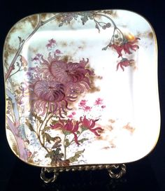 Beautiful Lavenders with GOLD DOULTON BURSLEM by Thriftnstyle