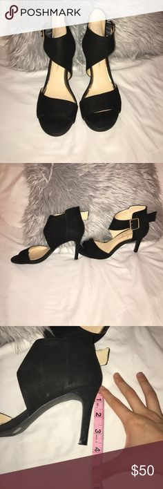 Jessica Simpson black high heels Only used once for homecoming! In great shape super comfortable I just have no need for them anymore. Make me an offer! Jessica Simpson Shoes Heeled Boots