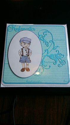 Konfirmasjonskort. Confirmation card. Made by me BBH