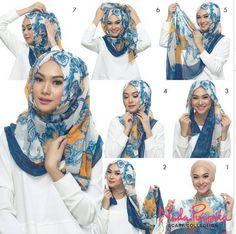 hijab tutorial by Indah Nada Puspita with Nada Puspita Scarf