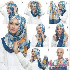 hijab tutorial by Indah Nada Puspita with Nada Puspita Scarf