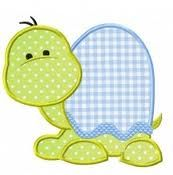 baby applique patterns - turtle