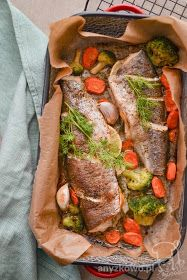 Aniseed: Trout from the oven - Fit Fish Recipes, Vegan Recipes, Vegan Junk Food, Vegan Sushi, Vegan Baby, Vegan Pancakes, Vegan Smoothies, Vegan Sweets, Fish And Seafood