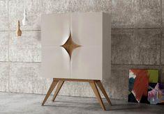 Cabinet furniture design of the Slap series.