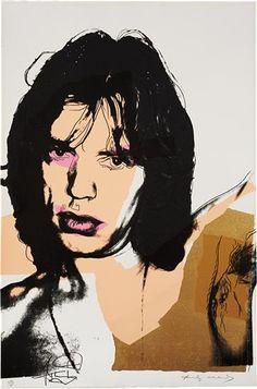 Mick Jagger (zanger van The Rolling Stones) door Andy Warhol