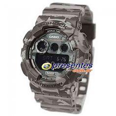 80e1fdfd718 GD-120CM-8DR Relogio Casio G-Shock Camuflado Estilo Militar Cinza Casio G