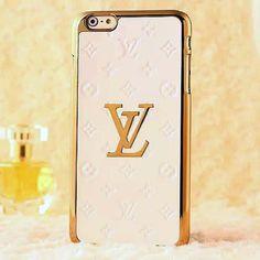 Luxury Louis Vuitton iPhone 6 Plus Case LV Vernis Cover White