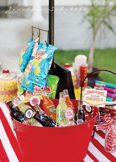 Night at the Movies Birthday Party - Kara's Party Ideas - The Place for All Things Party Great movie party with concession stand, umbrella table, paper lanterns, personalized straw flags, chocolate covered fortune cookies & more. Outdoor Movie Party, Movie Night Party, Party Time, Movie Nights, Backyard Movie, Party Party, Sleepover Party, Slumber Parties, Teen Sleepover