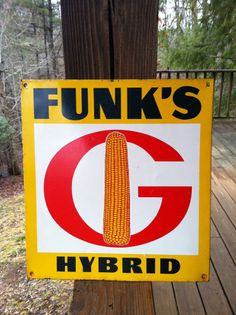 Vintage Funk's G Hybrid Tin Sign 12.5 X 13.5 Inches 12.5 X 13.5  $49.95