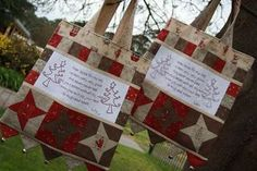 """love these Xmas bags out of the Natalie Ross book """"Get red red ready for Christmas"""""""