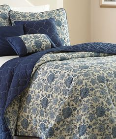 Another great find on #zulily! Six-Piece Reversible Quilt Set by Colonial Home Textiles #zulilyfinds