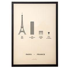 Paris City Print   me&him&you   Wolf & Badger