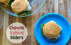 Chipotle Salmon Sliders - a fun and cute appetizer or main dish for the spring & summer season!!
