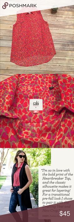 CAbi Heartbreaker Top Style #3270 Heart of CAbi Foundation Item! 100% Polyester and in EXCELLENT condition with no signs of wear! From Fall 2016 so very recent ☺️ CAbi Tops Blouses