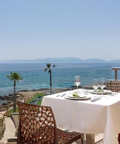 Experience the serenity around you. Crystal Clear Water, Outdoor Furniture Sets, Outdoor Decor, Resort Spa, Restaurant, Table Decorations, Luxury, Serenity, Dinner