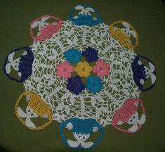 Easter Peeking Bunnies In Baskets Doily  Crochet Pattern by vjf25, $5.95