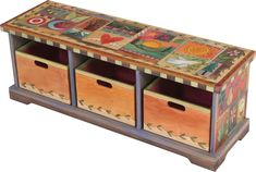 Storage Bench with Boxes #funkyfurniture