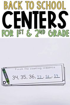 These differentiated back to school math centers are perfect August and September for first grade and 2nd grade students. They are great to use because each math center comes in two levels! Students will solve math puzzles, matching activities, task cards and more for addition, subtraction, measurement, time, money, geometry, and word problems! These are great for adding to your math rotations and math games and work stations. Having two levels will help your math organization, too!