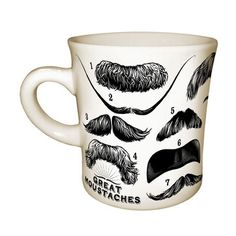 Great Moustache Mug Pair now featured on Fab. Gotta love mustaches. :{)