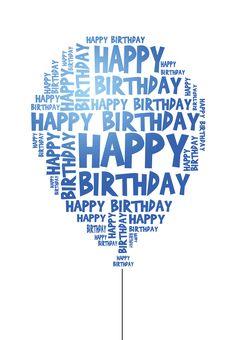 Blue Birthday wishes Happy Birthday Text, Happy Birthday Balloons, Blue Birthday, Happy Birthday Quotes, Happy Birthday Images, Happy Birthday Greetings, Birthday Messages, Birthday Pictures, Birthday Fun