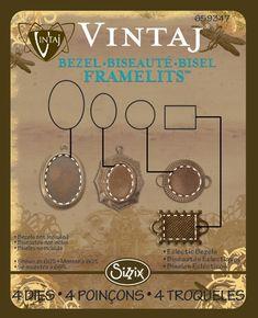 Sizzix Framelits Die Set 4PK - Eclectic Bezels by Vintaj to cut paper ect to fit the Vintaj bezels love it