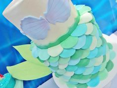 Little Mermaid Under the Sea themed birthday party via Karas Party Ideas karaspartyideas.com #ariel #mermaid #themed #birthday #party #ideas #cake #decor #supplies (37)