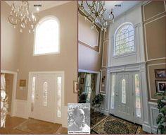 Foyer decorating – Home Decor Decorating Ideas Foyer Wall Decor, Foyer Paint, Entryway Chandelier, Foyer Decorating, Decorating Ideas, Decor Ideas, Diy Ideas, Decorating Bookshelves, Ideas Para