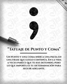 Best Inspirational Quotes About Life QUOTATION – Image : Quotes Of the day – Life Quote Tatuaje Punto y Coma Sharing is Caring – Keep QuotesDaily up, share this quote ! Simbolos Tattoo, Tattoos 3d, Semicolon Tattoo, Mini Tattoos, Finger Tattoos, Piercing Tattoo, Love Tattoos, Beautiful Tattoos, Body Art Tattoos