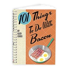 101 THINGS TO DO WITH BACON BOOK sizzles with a full plate of new and unusual recipes that you can be makin' with bacon! Discover a wide variety of tasty, easy-to-prepare recipes that all use bacon as a chief ingredient. Naturally, book includes many mouth-watering breakfast dishes, but you'll also find recipes for appetizers, soups, salads, sandwiches, entrées - even desserts! Spiral bound. 128 pages.