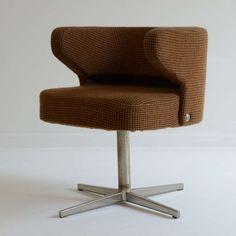 Gianni Moscatelli; Swivel Chair for Formanova, 1970s.
