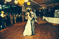The bride & groom enjoying their first dance at The Noyes Museum of Art! #wedding #celebration #firstdance
