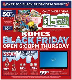Get the Kohl's Black Friday Ad Scan here! Search the database for the deals at all of the stores on Black Friday to save money. Kohls Black Friday, Black Friday Ads, Free Printable Coupons, All Toys, Holiday Sales, Great Deals, Just In Case, Saving Money, Tips