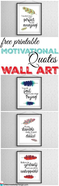 Free motivational wall art printables will help you reach your new year's goals and resolutions. Free printable wall art is the best kind! #wallart #freeprintable #motivation