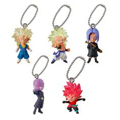 Super Saiyan Broly Great APE Vegeta Goku Birus Gotenks Figure Keychain Kids Toys