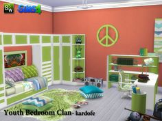 kardofe_Youth Bedroom Clan   Sims 4 Updates -♦- Sims Finds & Sims Must Haves -♦- Free Sims Downloads