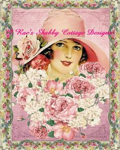 Beautiful Vintage Earl Christy Lady in Pink Altered Art 5x7 Fabric Block | eBay