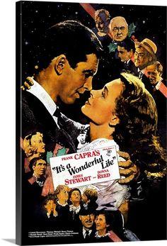 Classic Movie Posters, Movie Poster Art, Film Posters, Art Posters, Wonderful Life Movie, It's Wonderful, Charles Edward, Beulah Bondi, Frank Capra