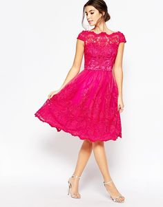 Buy Chi Chi London Premium Lace Midi Prom Dress with Bardot Neck at ASOS. With free delivery and return options (Ts&Cs apply), online shopping has never been so easy. Get the latest trends with ASOS now. Prom Dresses Lace Sleeves, Red Lace Prom Dress, Prom Dresses For Teens, Short Dresses, Formal Dresses, Chi Chi, Mode Chic, Types Of Dresses, Mi Long
