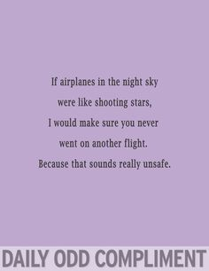 Airplanes in the Night Sky