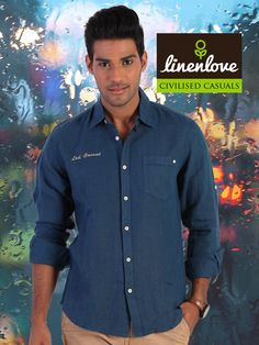 A navy #blue shirt is a great way to say that you are enjoying the #weather Shop now at: http://bit.ly/1ue4b7C