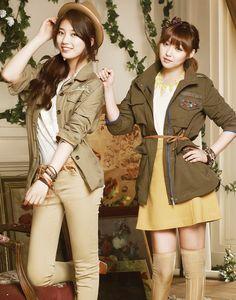 Suzy and Min Kpop Girl Groups, Kpop Girls, Miss A Suzy, Fall Outfits, Cute Outfits, Bae Suzy, Asian Style, Korean Style, Korea Fashion